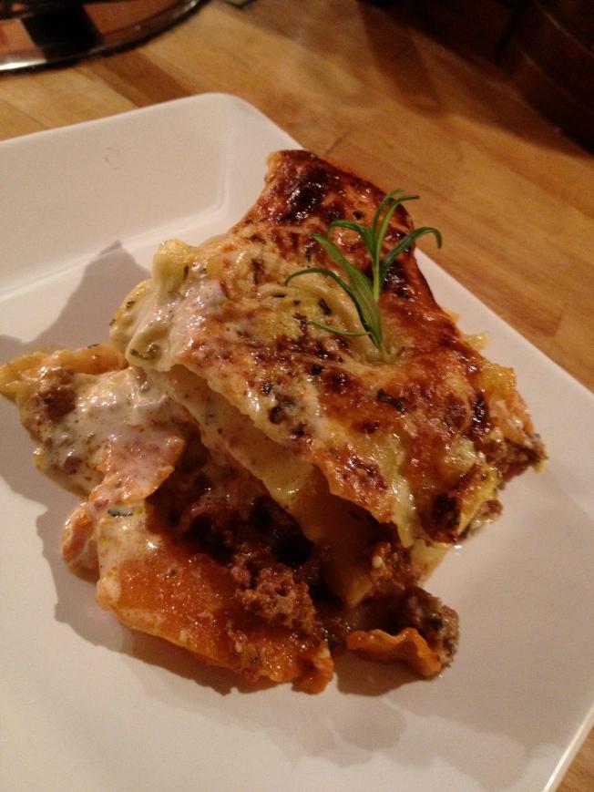 Pumpkin Lasagne; BlueCrumbles