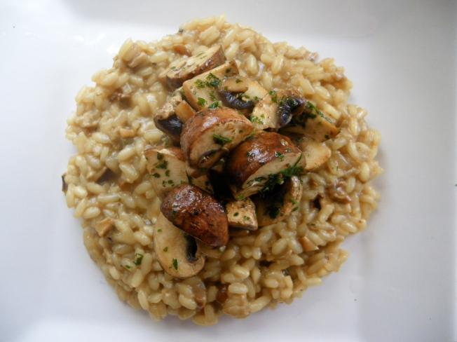 Porcini Mushroom Risotto; BlueCrumbles