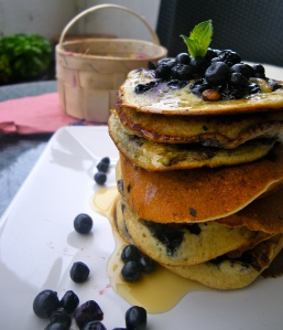 BlueBerry Pancakes; Bluecrumbles